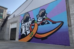 Space Race Mural, CCIC. This mural is located on the Circle City Industrial Complex building in Indianapolis. November, 2019