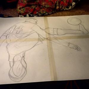 stencil drawing